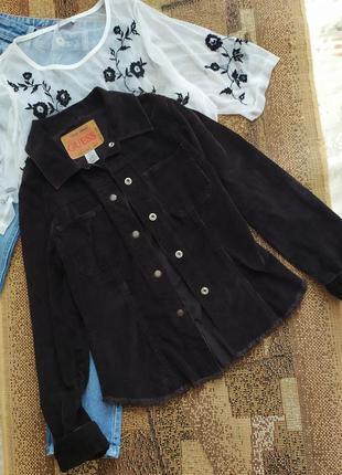 Пиджак / куртка бархатная джинсовка бахрома / велюровая курточка / пальто