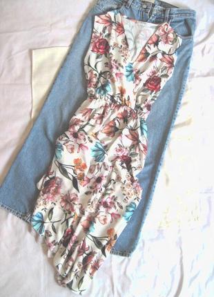 Волшебное цветочное платье из шифона на запах nostalgia