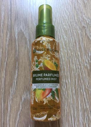 Парфумований спрей для тіла та волосся манго – коріандр 100 мл. yves rocher ив роше