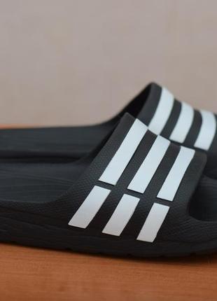 Черные летние шлепанцы, сланцы adidas duramo slide, 40-41 размер. оригинал