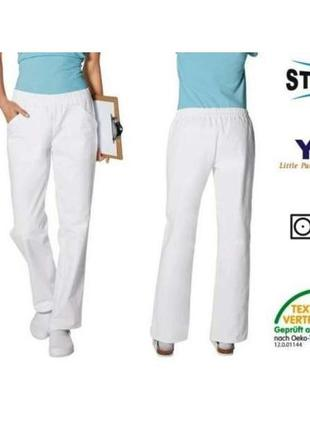 Белые брюки для медработников евро 38 klinikhose германия