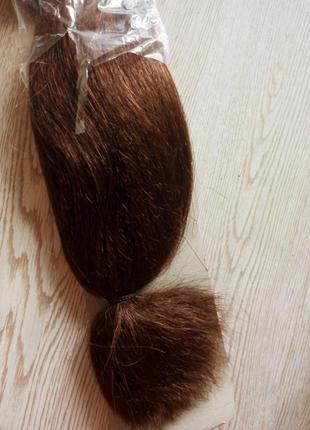 Новый канекалон искусственные волосы для плетения косичек коричневый длинные