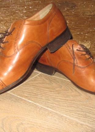 Мужские кожаные туфли barker 46 р.