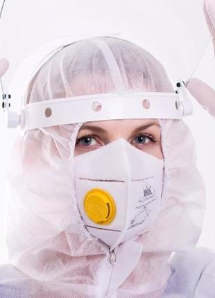 Респиратор ffp3 клапан высший класс защиты сделано в украине гост маска защитная поштучно2 фото