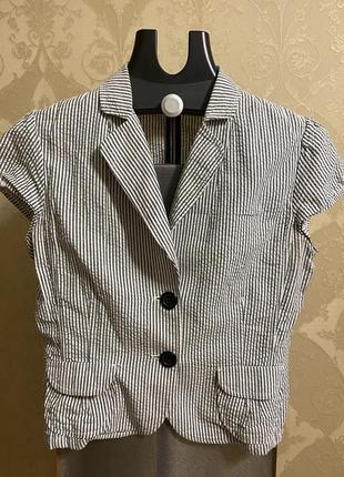 Пиджак жакет блейзер h&m в полоску