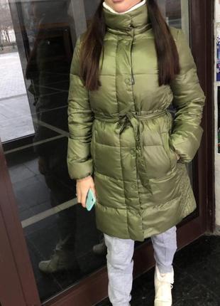 Пуховое пальто gap xs