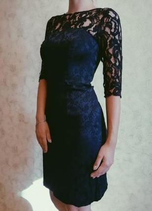 Чёрное платье river island