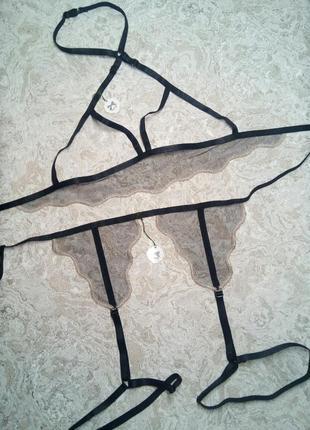 Контурное белье,пояс гартэры,холтер портупея