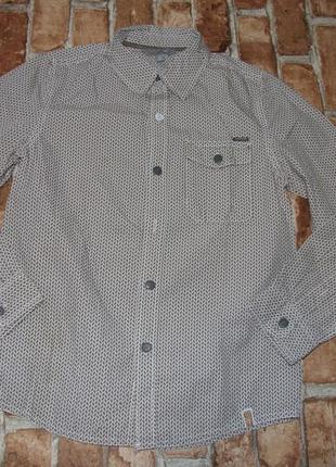 Стильная рубашка мальчику 9 - 10 лет  jbc