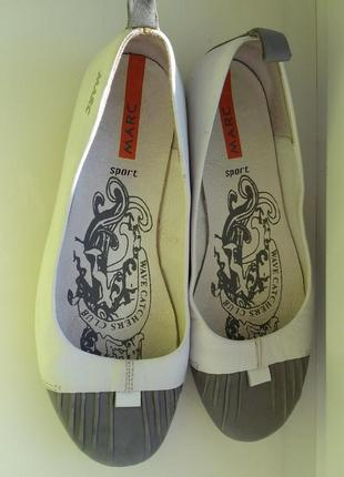 Туфли лофери балетки кожание marc sport