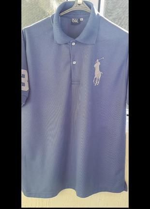 Крута футболка поло цифра 3 big pony під ralph lauren великий значок лого