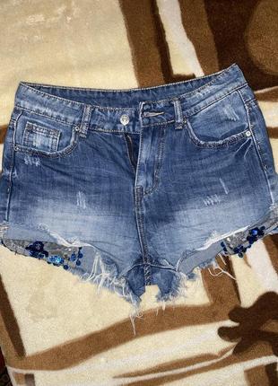 Шорты джинс короткие