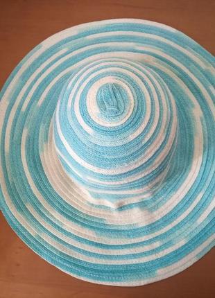 Шляпа летняя широкополая панама