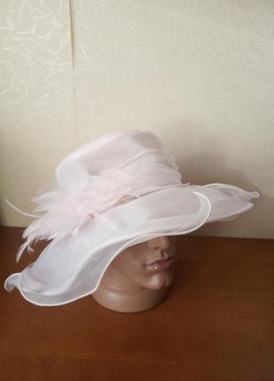 Винтажная шляпка из органзы