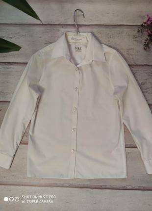Рубашка школьная marks & spencer б\у 7-8 и 8-9 лет