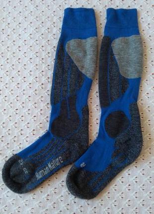 Термо шкарпетки шерсть мериноса лижні гольфи носки высокие лыжные гольфы