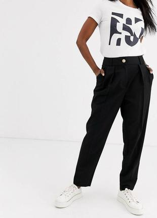 Чёрные брюки галифе zara