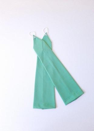 Перчатки зеленые под нарядное платье