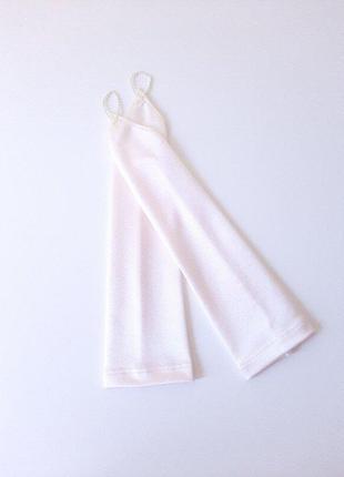 Перчатки айвори высокие под нарядное платье