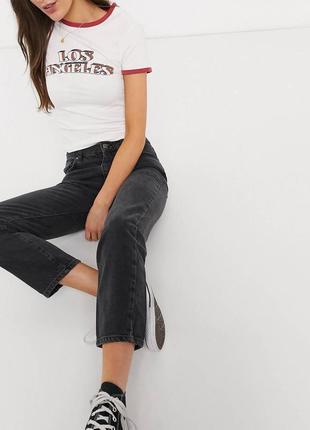 Чёрные джинсы в винтажном стиле h&m