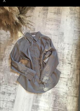 Офисная блуза-рубашка (большой размер)
