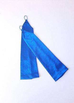 Перчатки синие под нарядное платье