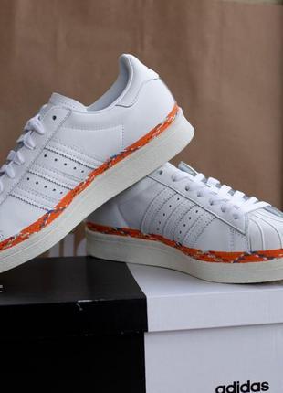 38.5р - 24.5 \ 40 р 26см кеды adidas superstar 80s new bold женские кроссовки кожаные