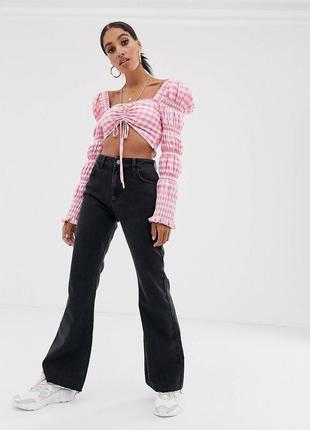 Чёрные расклешенные джинсы h&m