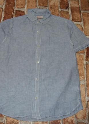 Стильная рубашка мальчику тениска легкая котон 9 лет next