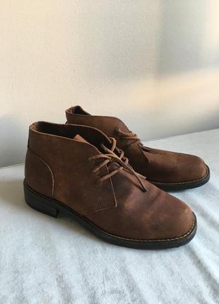 Винтажные кожаные полуботинки / ботинки на шнуровке