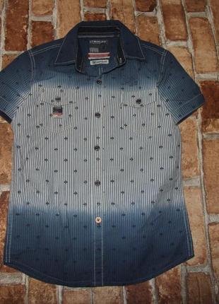Стильная рубашка мальчику 10 лет