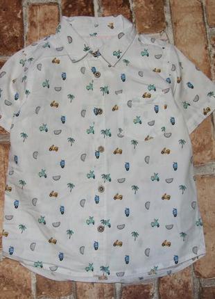 Стильная рубашка мальчику 2 - 3 года matalan