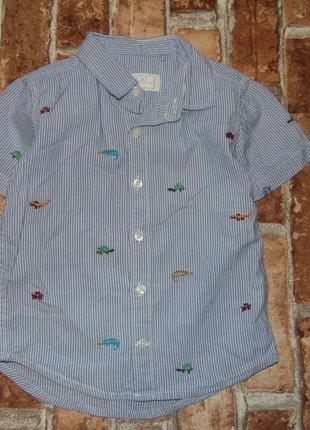 Стильная рубашка мальчику  1 - 2 года next