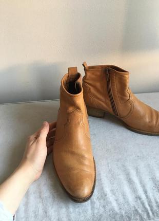 Казаки кожаные paul green / ковбойские ботинки винтаж