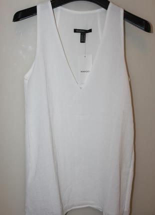 Блуза белая новая mango