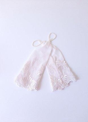 Перчатки айвори сетка под нарядное платье