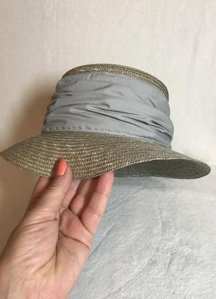 """Роскошная, очень красивая летняя шляпа  """"канотье""""  натуральная соломка. золотистый беж"""