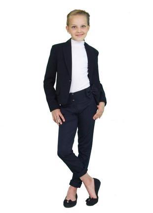 """Пиджак школьный для девочки м-1089 рост 152 и 170 синий тм """"попелюшка"""""""