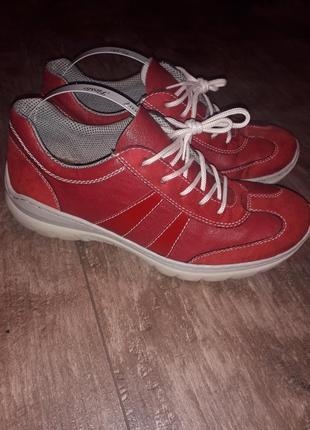 Мега удобные кожаные кроссовки туфли слипоны rieker
