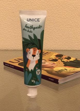 Детская зубная паста юнайс unice
