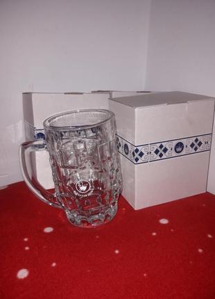 Граненый пивной бокал, кухоль, бокал для кваса 500 мл всего есть 8 бокалов