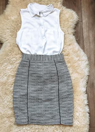 Красивая классическая юбка на подкладке h&m