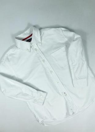 Белоснежная хлопковая рубашка на мальчика