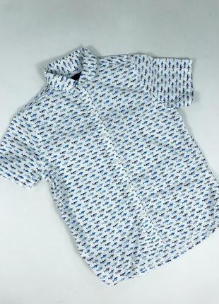 Хлопковая рубашка с акулами