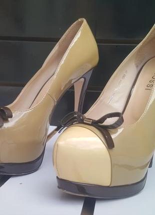 Туфли женские glossi (кожа+лак)