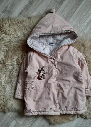 Пудровая курточка на синтепоне от disney