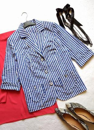 Роскошный хлопковый пиджак sommerman в морском стиле, в полоску