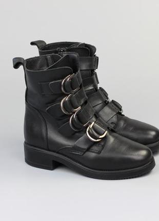 Кожаные ботинки в стиле zara vagabond