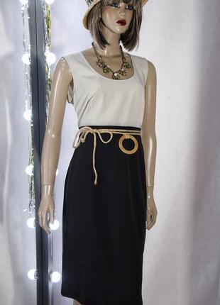 Calvin klein брендовое классическое платье миди футляр чёрное оверсайз брендовое