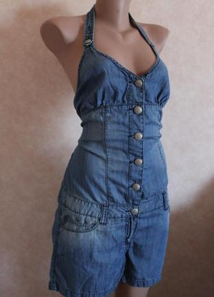 Oxxy джинсовый сарафан,шорты